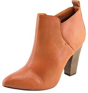 Steve Madden Leather Cognac Ankle Pointed Toe Brown Boots