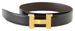 Hermès Belt CONSTANCE 42mm Kit Reversible Brushed Gold Buckle 80 new