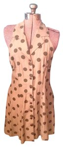 Dawn Joy short dress Green Polka Dot Buttons Retro on Tradesy