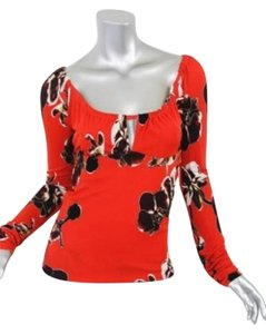 Emanuel Ungaro Red Top Multi-Color