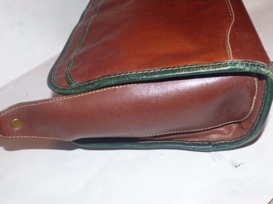 Brahmin Two-way Style Lots Of Pockets Clutch/Shoulder Great Everyday Excellent Vintage Cross Body Bag Image 3