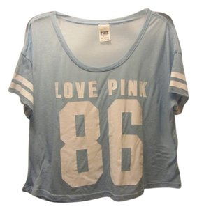 Victoria's Secret Sexy Oversize Tee Football Style Crop Monday Nite Spirit Shear For Attention Or Over A Bra/top T Shirt blue