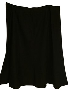 Eileen Fisher Nwt Midi Swing Flounce Skirt Black