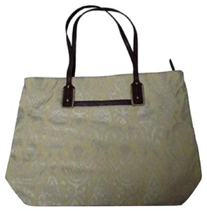 Stella & Dot Tote in metallic ikat