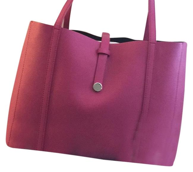 Item - Co Raspberry Pink Leather Tote
