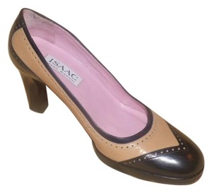Isaac Mizrahi Dressy Or Casual black & brown leather in spectator style Pumps