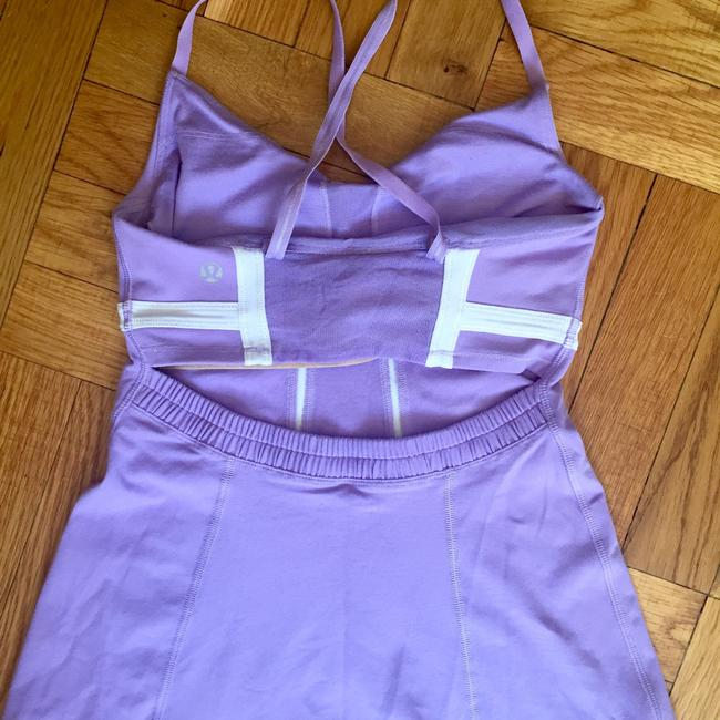 Lululemon Support Bra Cut Out Fitted Yoga Tank Top Image 1