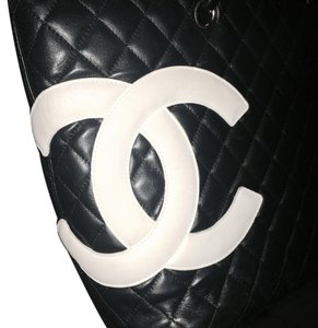 Chanel Leather Black Shoulder Tote