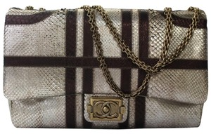 Chanel Python Jumbo Flap Classic Shoulder Bag
