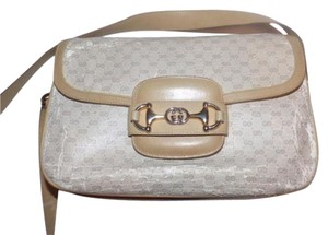 Gucci Equestrian Accents Accordion Bottom Two Strap Lengths Small G Logo Print Needs Tlc Hobo Bag