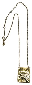 J.Crew JCrew Gold Hammered Square Necklace