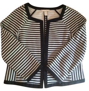 Banana Republic Stripes Knitwear Black & Cream Jacket