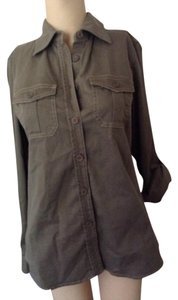 Peace of Cloth Top Olive green