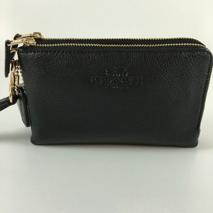 Coach Leather Nwt Wristlet in BLACK