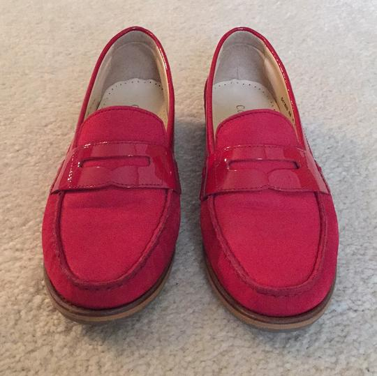 Cole Haan Loafers Leather Red Flats Image 1