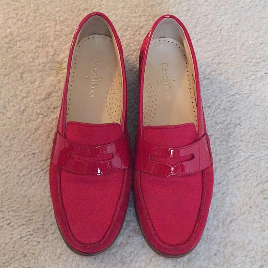 Cole Haan Loafers Leather Red Flats Image 2