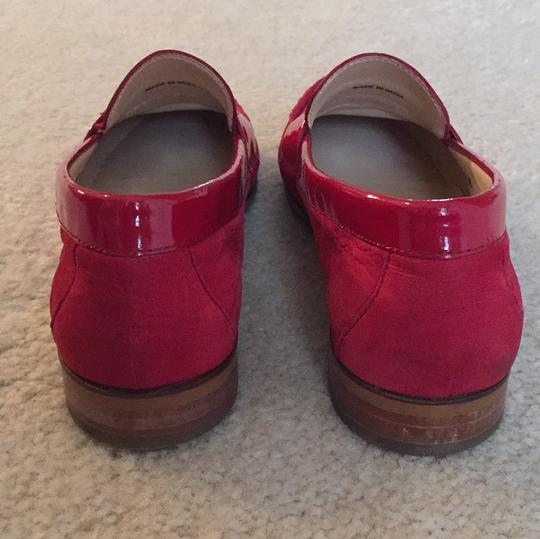 Cole Haan Loafers Leather Red Flats Image 3