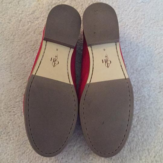 Cole Haan Loafers Leather Red Flats Image 4