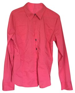 New York & Company Button Down Shirt Coral