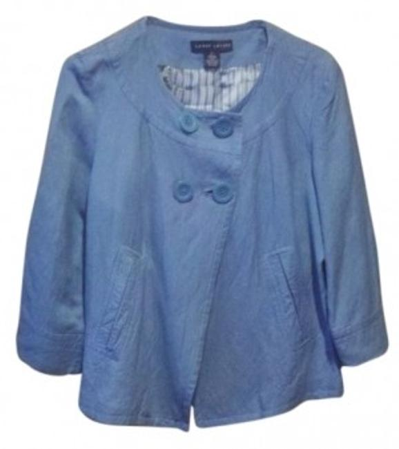 Preload https://item3.tradesy.com/images/larry-levine-cornflower-blue-sassy-pretty-fun-to-wear-button-down-top-size-14-l-18762-0-0.jpg?width=400&height=650