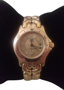 TAG Heuer Tag Heuer Wg1330 18k Gold Over Stainless Ladies Watch-Rare Gold Dial!