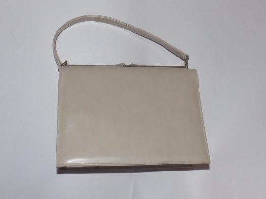 Naturalizer Early Mod Kelly Style Top Handle Excellent Vintage Satchel in pastel color block faux leather Image 4