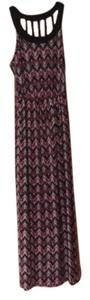 Black, Pink Maxi Dress by Charlotte Russe
