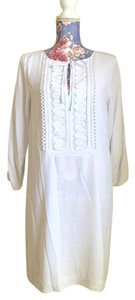 Diane von Furstenberg short dress White 100% Silk on Tradesy