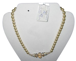 Giavan Giavan HOL529 (n35) Pearl (Antique) & Crystal (golden shade) Necklace