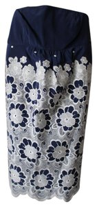 Tibi short dress Blue & White Embroidered on Tradesy