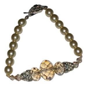 Giavan Giavan HOL529B (b22) Pearl (Antique) Crystal (golden shade) bracelet