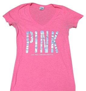PINK T Shirt Hot pink and silver