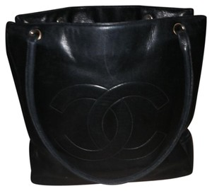 Chanel Shoulder Black Leather Tote