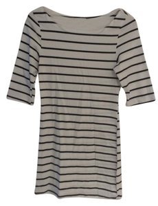 Humble chic short dress White and blue stripes on Tradesy