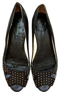 Calvin Klein Studded Leather Flats
