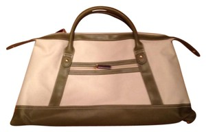 Estée Lauder Tote in Olive Green and Cream