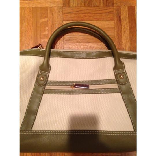 Estée Lauder Tote in Olive Green and Cream Image 1