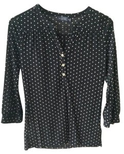 The Limited Sheer Polka Dot Top Black