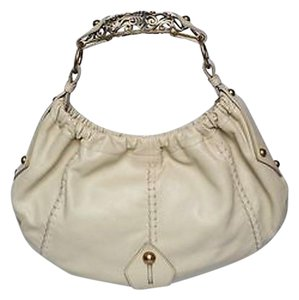 Saint Laurent Yves Rive Gauche Leather Vincennes Horn Handbag Hobo Bag
