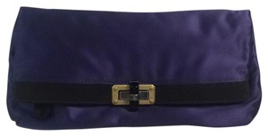 Lanvin Royal Blue/black/gold Clutch