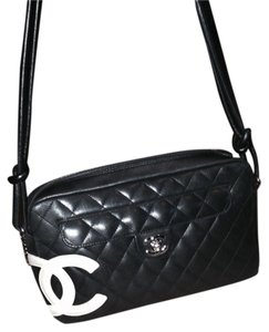 Chanel Black Leather Pink Tote