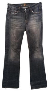 7 For All Mankind Distressed Worn In Flare Leg Jeans-Distressed
