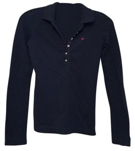 American Eagle Outfitters Button Down Shirt Navy blue