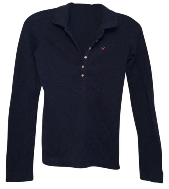 Preload https://img-static.tradesy.com/item/18764968/american-eagle-outfitters-navy-blue-slim-fit-button-down-top-size-2-xs-0-1-650-650.jpg