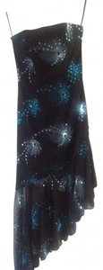 Xcite Prom Sequin Hi Lo Strapless Dress