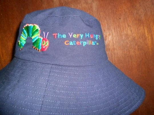 The Hungry Caterpillar Eric Carle Womens The Hungry Caterpillar Eric Carle Wide Brim Sun Hat Large Size Image 1
