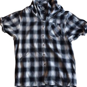 Vince Button Down Shirt Black/white