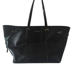 Cynthia Rowley Leather Gold Hardware Tote in Black