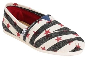 TOMS White, blue, red Flats