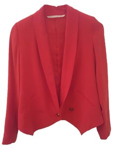 Twelfth St. by Cynthia Vincent 100% Silk Casual Party Red Blazer